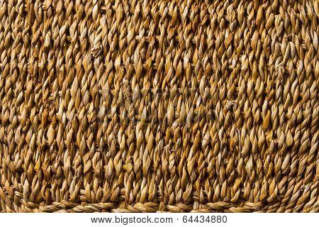 Basket Wicker Braid Weave Texture, Straw Reed Macro Background
