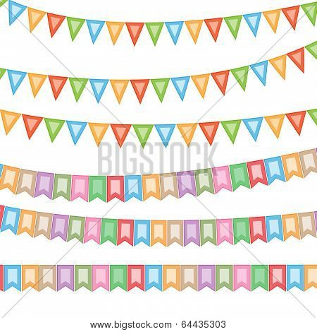 Celebratory flags for your projects.Vector