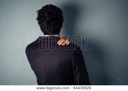 Businessman With Sore Neck