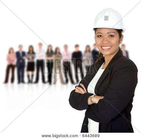 Female Engineering With A Team