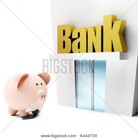 Piggybank At The Bank