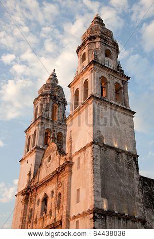 Cathedral De La Concepcion In Campeche Of Mexico