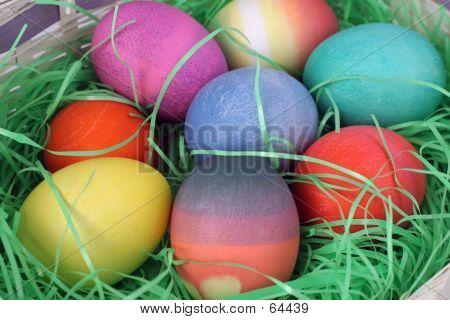 Closeup Of Easter Eggs