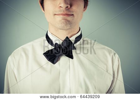 Young Man With Messy Bow Tie