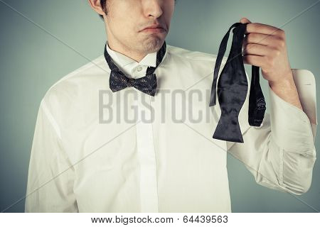 Young Man Ding A Bow Tie