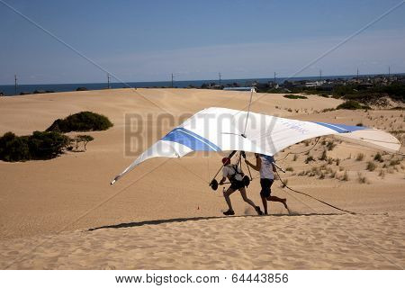 Hang Gliding Take Off