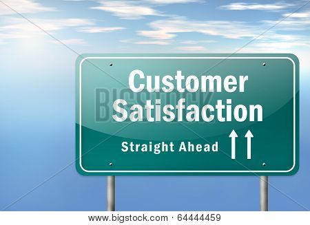 Highway Signpost Customer Satisfaction