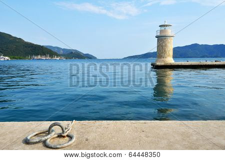 Lighthouse in the bay of Marmaris, Turkey