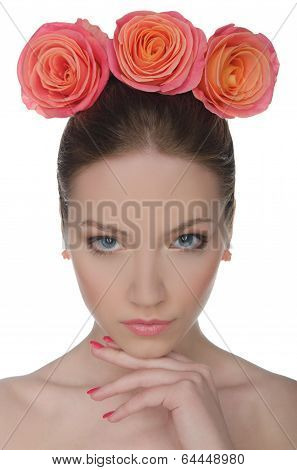 Woman In A Hat Of Tres Roses