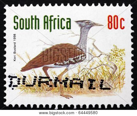 Postage Stamp South Africa 1998 Kori Bustard, Bird