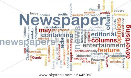 Newspaper News Background Concept