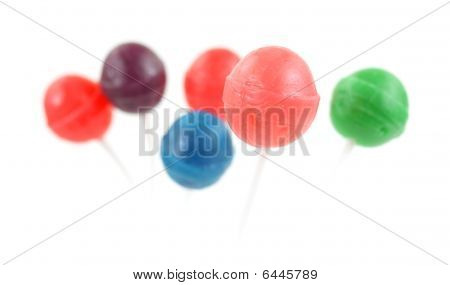 Group of lollipops with the front in focus