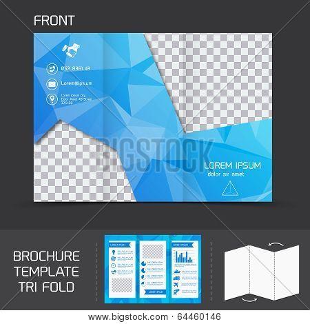 Brochure template tri fold