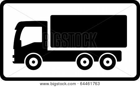 Icon With Black Islolated Truck