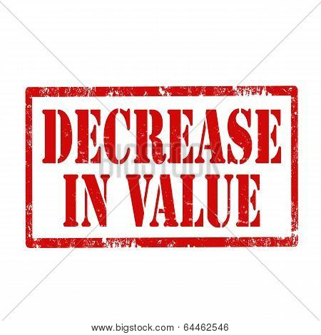 Decrease In Value-stamp