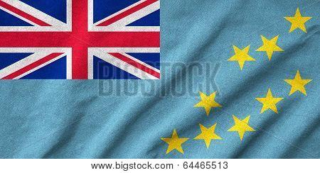 Ruffled Tuvalu Flag