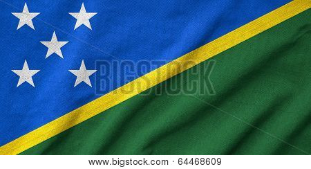 Ruffled Solomon Islands Flag