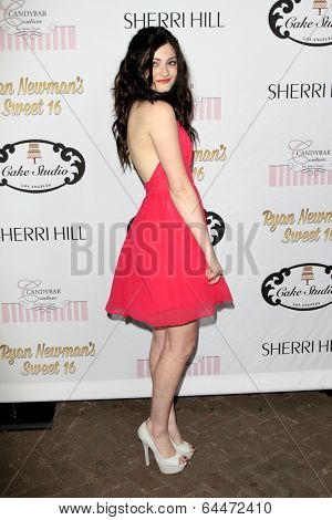 LOS ANGELES - APR 27:  Alexis Raich at the Ryan Newman's Glitz and Glam Sweet 16 birthday party at Emerson Theater on April 27, 2014 in Los Angeles, CA