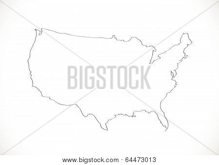 Map of USA in idea design