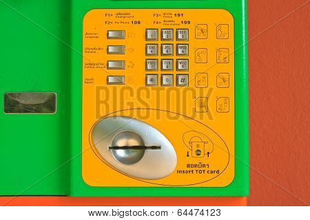 Button Number Public Telephone