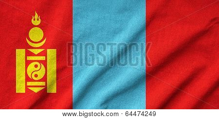 Ruffled Mongolia Flag