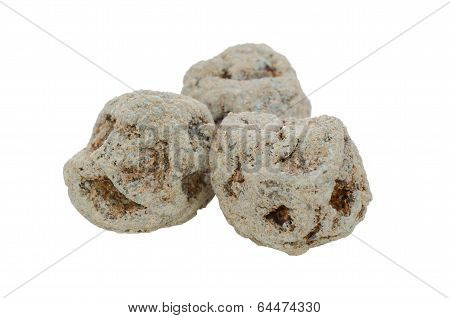 Dried Salted Chinese Plum Isolated On White Background