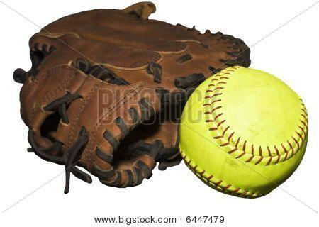 Catcher's Glove And Softball