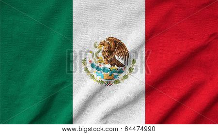 Ruffled Mexico Flag