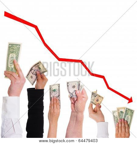 Hands With Dollars Concept Share Price