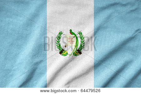 Ruffled Guatemala Flag
