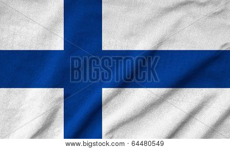 Ruffled Finland Flag