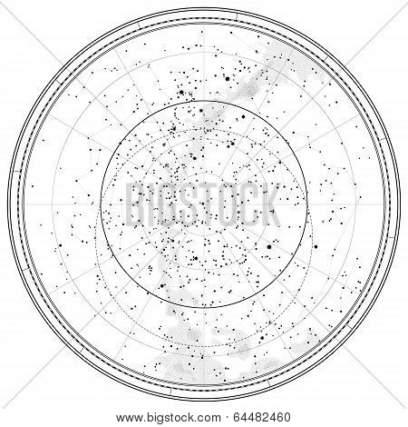 Astronomical Celestial Map