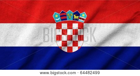 Ruffled Croatia Flag