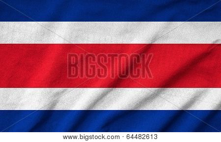 Ruffled Costa Rica Flag