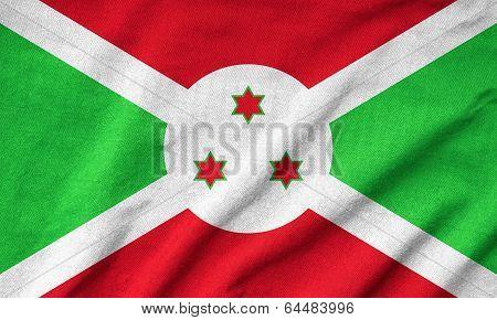 Ruffled Burundi Flag