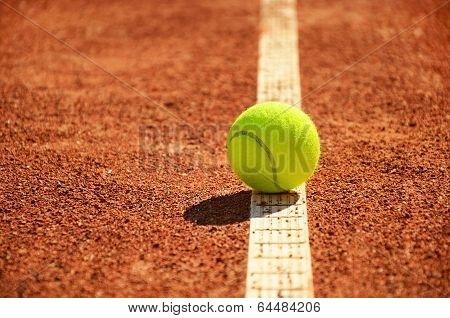 Tennis Ball Is On The Markup Horizontal