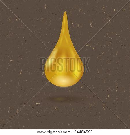 Realistic Drop Of Honey