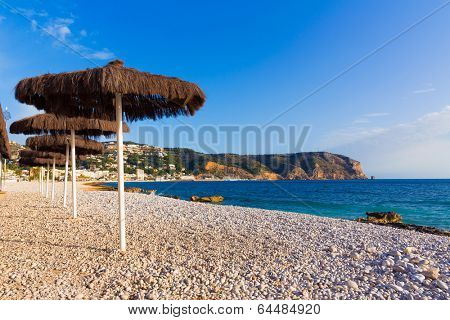 Javea Xabia playa Benissero beach Muntanyar in Alicante at Mediterranean spain
