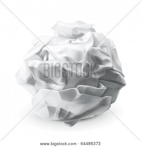 Crumpled paper, vector