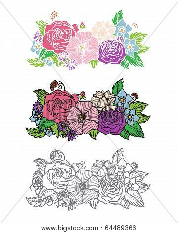 Flowers design element