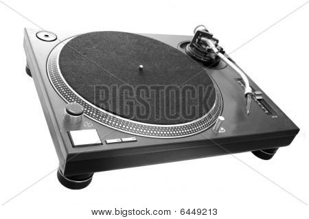 Dj Turntable Isolated On White