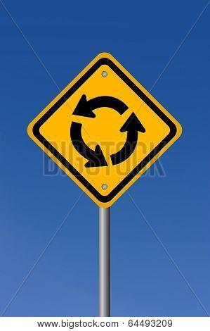 Circle road sign