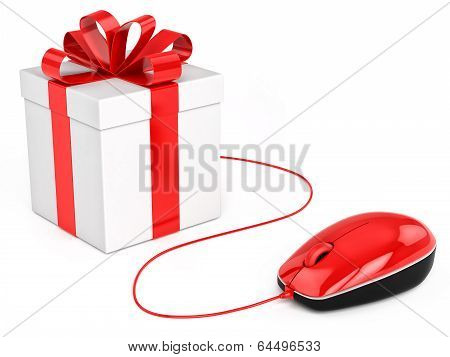 Buy Gift Online Shopping. Concept