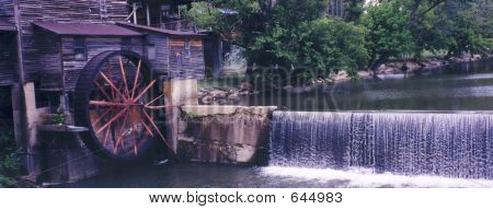 Water Wheel And Dam