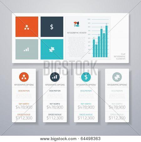 Flat Infographic Ui Elements