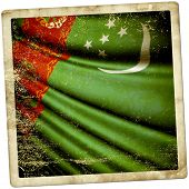 foto of turkmenistan  - This is an illustration of flag of Turkmenistan - JPG