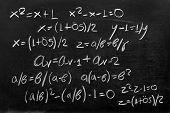 stock photo of fibonacci  - Explaining Golden Ratio with mathematical formulas in studio - JPG
