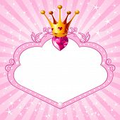 foto of tiara  - Lovely princess pink frame - JPG