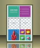 picture of placeholder  - Vector  business brochure or magazine cover  template with gems - JPG