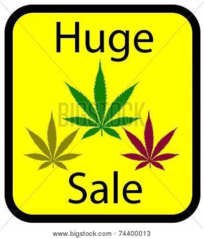 sale sign for marijuana